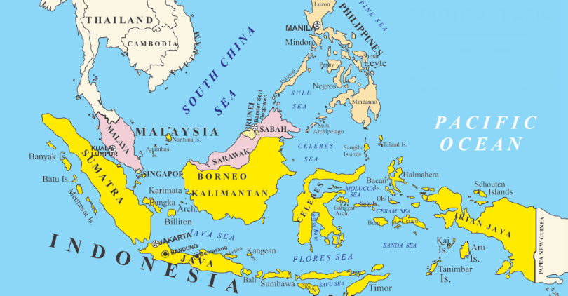 Southeast asian physiography is dominated by