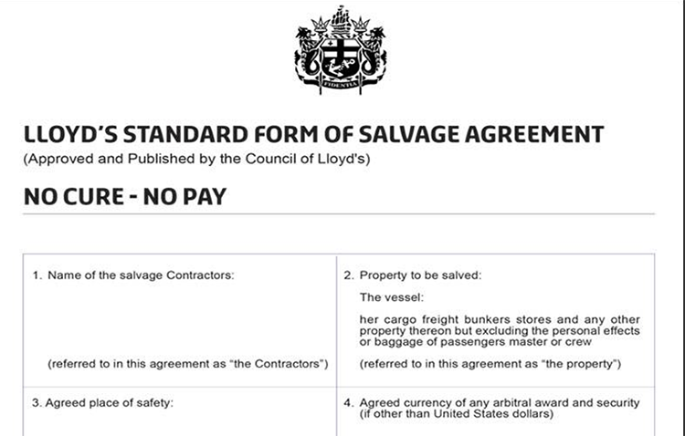 Is The Lloyds Open Form Salvage Contract Dying Gard